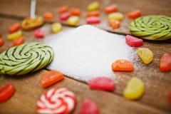 Produtos do açúcar imagem de stock