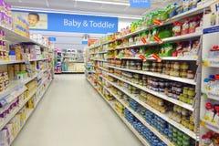 Produtos do comida para bebê Foto de Stock Royalty Free