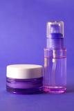 Produtos do cosmético e de beleza Fotografia de Stock Royalty Free