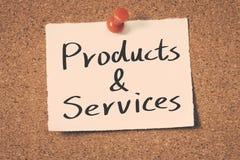 Produtos e serviço Imagem de Stock
