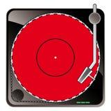 Produtos electrónicos de consumo do vintage - sistema de áudio da plataforma giratória Fotos de Stock Royalty Free
