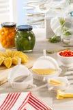 Produtos home gourmet Foto de Stock