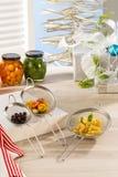 Produtos home gourmet Fotografia de Stock Royalty Free