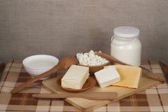 Produtos lácteos Foto de Stock