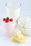 Produtos lácteos Fotos de Stock