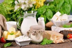 Produtos lácteos Fotos de Stock Royalty Free