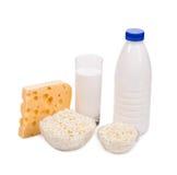 Produtos lácteos deliciosos Fotos de Stock