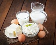 Produtos lácteos e ovos Fotos de Stock