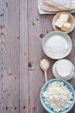 Produtos lácteos frescos Foto de Stock