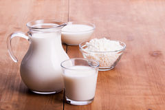 Produtos lácteos Fotografia de Stock Royalty Free