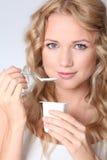Produtos lácteos e boa saúde Fotografia de Stock Royalty Free