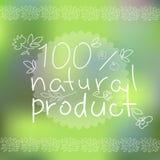 Produtos naturais cartaz, ilustração do vetor Imagem de Stock