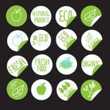 Produtos naturais da etiqueta da etiqueta Imagens de Stock