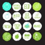 Produtos naturais da etiqueta da etiqueta Foto de Stock Royalty Free