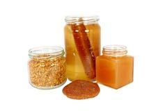 Produtos naturais feitos das abelhas Foto de Stock