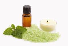 Produtos para a aromaterapia foto de stock royalty free