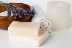 Produtos para o banho, os TERMAS, o bem-estar e a higiene Imagem de Stock