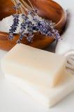 Produtos para o banho, os TERMAS, o bem-estar e a higiene Fotos de Stock