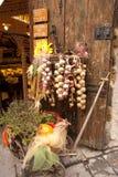 Produtos típicos de Toscânia foto de stock