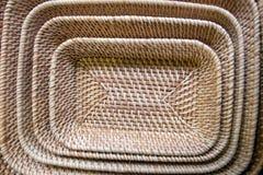 Produtos tecidos bambu Fotografia de Stock Royalty Free