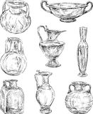 Produtos vidreiros antigos Imagem de Stock Royalty Free