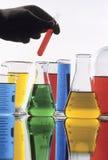 Produtos vidreiros da ciência Fotografia de Stock Royalty Free