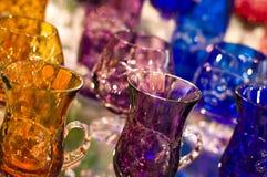 Produtos vidreiros de cristal Imagem de Stock