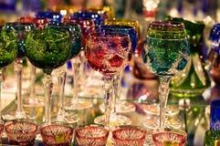 Produtos vidreiros de cristal Fotos de Stock