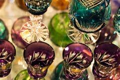 Produtos vidreiros de cristal Foto de Stock