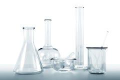 Produtos vidreiros de laboratório Fotografia de Stock