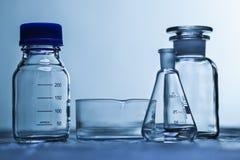 Produtos vidreiros de laboratório Imagens de Stock