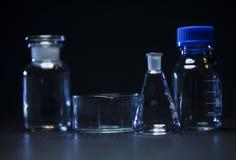 Produtos vidreiros de laboratório Foto de Stock Royalty Free