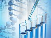 Produtos vidreiros de laboratório Imagem de Stock Royalty Free