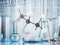 Produtos vidreiros de laboratório Fotos de Stock