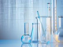 Produtos vidreiros de laboratório Foto de Stock