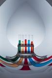 Produtos vidreiros de laboratório com líquidos Imagem de Stock Royalty Free