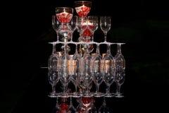 Produtos vidreiros empilhados Imagem de Stock