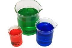 Produtos vidreiros químicos Foto de Stock