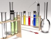 Produtos vidreiros químicos Imagem de Stock