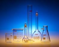 Produtos vidreiros químicos Fotografia de Stock Royalty Free