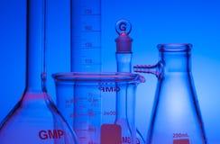 Produtos vidreiros químicos Fotografia de Stock