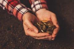 Produttività agricola, rendimento dei soldi e reddito dopo il raccolto immagine stock