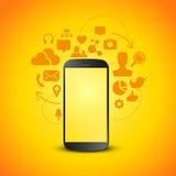 Produttività mobile Immagine Stock