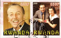 Produttore cinematografico americano del Walt Disney, animatore Fotografia Stock Libera da Diritti