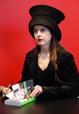 Produttore francese/belga Amelie Nothomb di romanzo fotografia stock