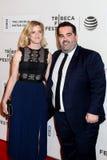 Produzent Berry Welsh (R) und seine Frau Emily Lizenzfreie Stockbilder