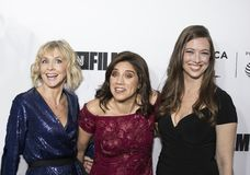 Produzenten und Direktor Arrive für 17. Tribeca-Film-Festival-offene Nacht lizenzfreies stockbild