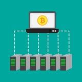 Produzione con i server del bitcoin royalty illustrazione gratis