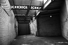 Produzione Corridoio B&W Fotografia Stock