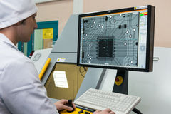 Produzione dei componenti elettronici ad alta tecnologia Immagini Stock Libere da Diritti